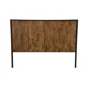 Tête de lit tablier bois large finition naturelle vieillie