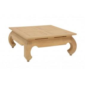 Table basse opium 83x83x35cm plateau 80x80cm Hmong