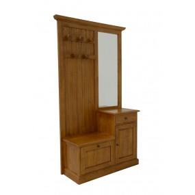 Vestiaire 2 portes 1 tiroir avec miroir Yugur