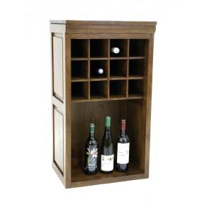 Range bouteilles bois 2 compartiments