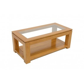 Table basse rectangle petit modèle vitrée Maya