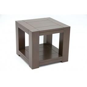 Coin de canapé cubique en bois  Huns