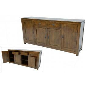 Enfilade 4 portes 2 tiroirs 180cm Maya