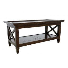 Table basse rectangle coloniale Karen