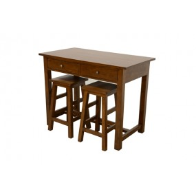 Table 110x60x85cm + 2 tabourets 60cm bama