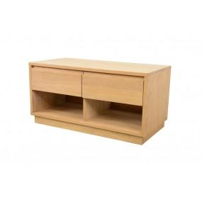 Meuble TV 2 tiroirs 90x45x45cm Sami