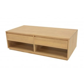Table basse 2 tiroirs 120x60x40cm Sami