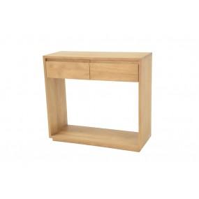 Console 2 tiroirs 80x30x75cm Sami