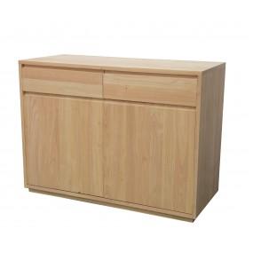 Buffet 2 portes 2 tiroirs 106x45x81cm Sami
