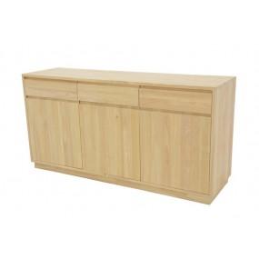 Buffet 3 portes 3 tiroirs 160x45x81cm Sami