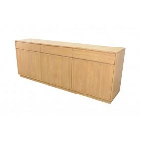Buffet 3 portes 3 tiroirs 213x45x81cm Sami