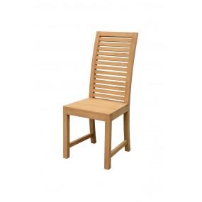 Chaise en bois avec dossier haut ajouré 45x52x105cm Inuit