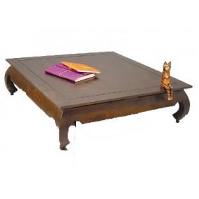 Table opium 4/4 120X120X35cm Hmong