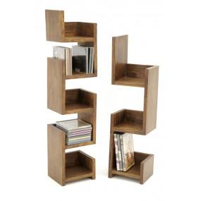 Set de 2 étagères labyrinthe livres / CD