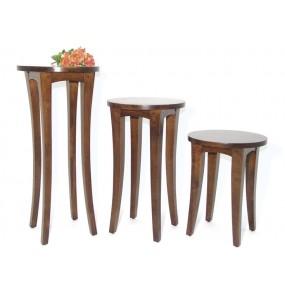 Set de 3 petites tables guéridons Blang