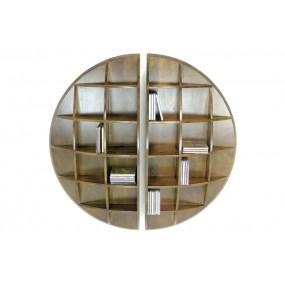 Set de 2 étagères murales rondes demie sphère Moken