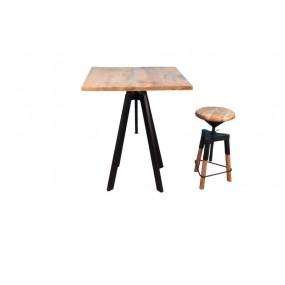 Table carrée hauteur réglable par rotation