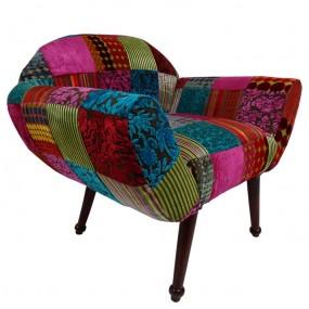 Fauteuil patchwork design forme arrondie RAJWADA