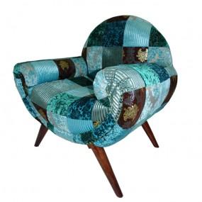 Fauteuil patchwork vintage EKAT