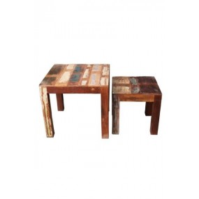 Set de 2 tables basses Tamang