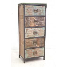 Meuble rangement 5 tiroirs Tamang