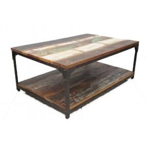 Table basse rectangle double plateau Tamang