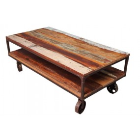 Table basse rectangle sur roues Tamang