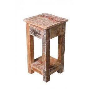 Bout de canapé avec tiroir type tabouret Tamang
