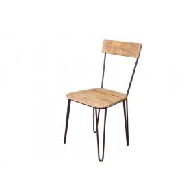 Chaise pieds compas en métal