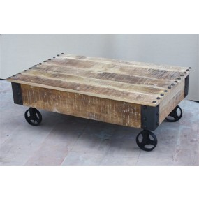 Table basse sur roues Pachtoune 2