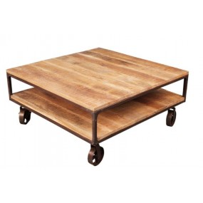 Table basse roues fer Pachtoune