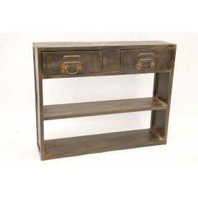 Console en métal industry 2 tiroirs