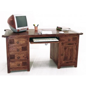 Bureau tablette coulissante