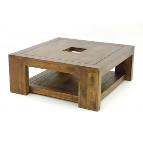 Table basse double carrée Hindi