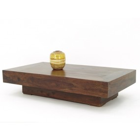 Table basse bloc rectangle en bois plein
