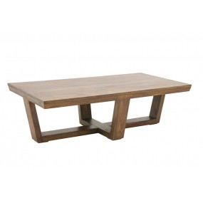 Table basse corbeille pied croisé Hindi