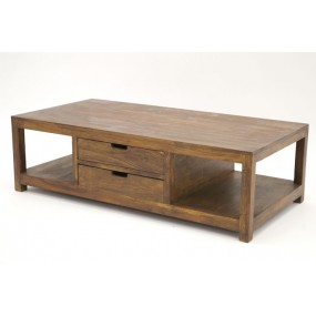 Table basse 2 tiroirs Hindi
