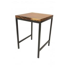 Table de Bar haute Plateau carré en Acacia de 5CM d'épaisseur