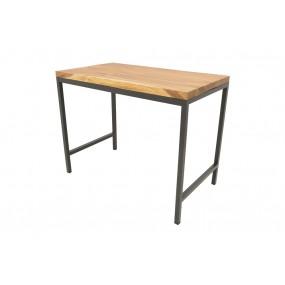 Table haute de repas plateau Acacia de 5 cm d'épaisseur