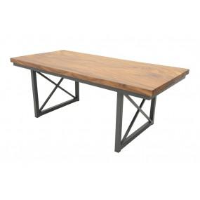 Table repas Wolof Plateau Acacia en forme libre 200cm x 95cm
