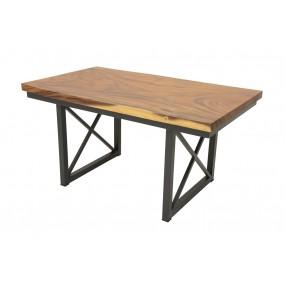 Table repas Wolof Plateau Acacia en forme libre de 5CM d'épaisseur