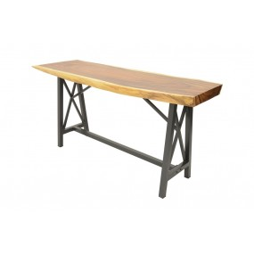 Table de Bar - plateau en Acacia épais (8 cm) - L