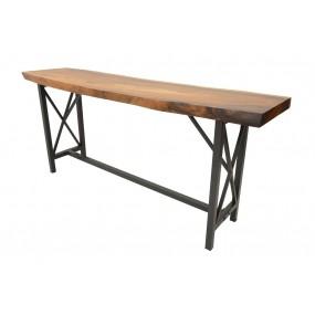 Table de Bar - plateau en Acacia épaisseur 8 cm - XL