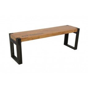 Banc 135cm Wolof finition naturelle avec inscription