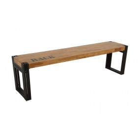 Banc 165cm Wolof finition naturelle avec inscription