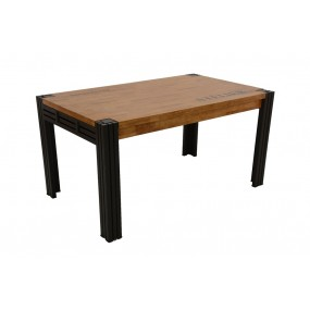 Table repas 150cm extensible Wolof finition naturelle avec inscription