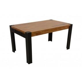 Table repas 150cm extensible Wolof finition naturelle avec inscription