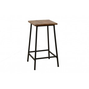 Tabouret de bar Wolof 2 finition naturelle vieillie
