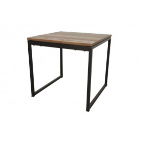 Table carrée finition recyclée (longueur 80 cm)
