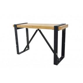 Table haute de bar industrielle rectangle avec pieds plats
